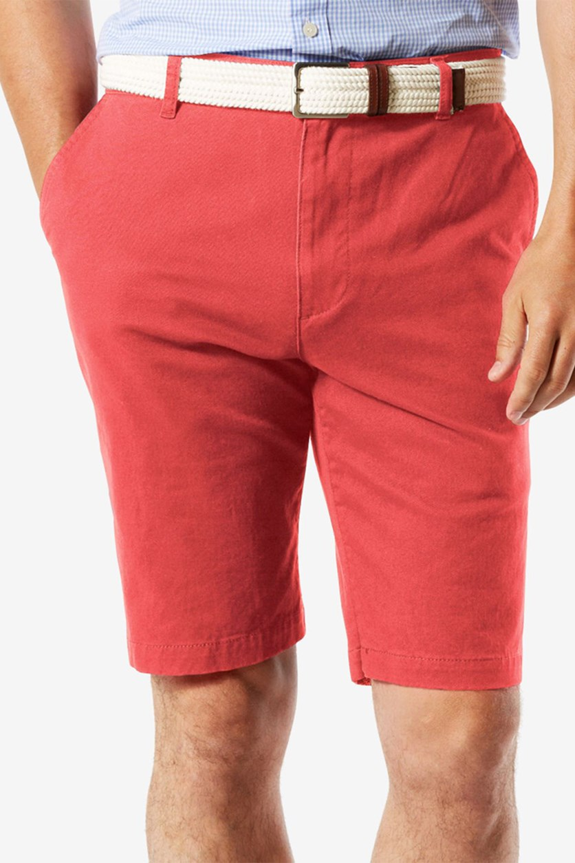 Men's Twill Shorts, Tango Red
