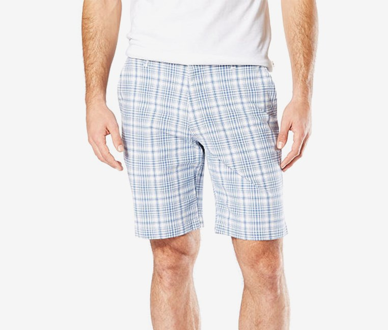 Mens Stretch Chino Short, Blue