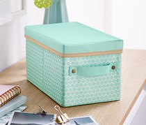 Organiser Box With Lid, Green