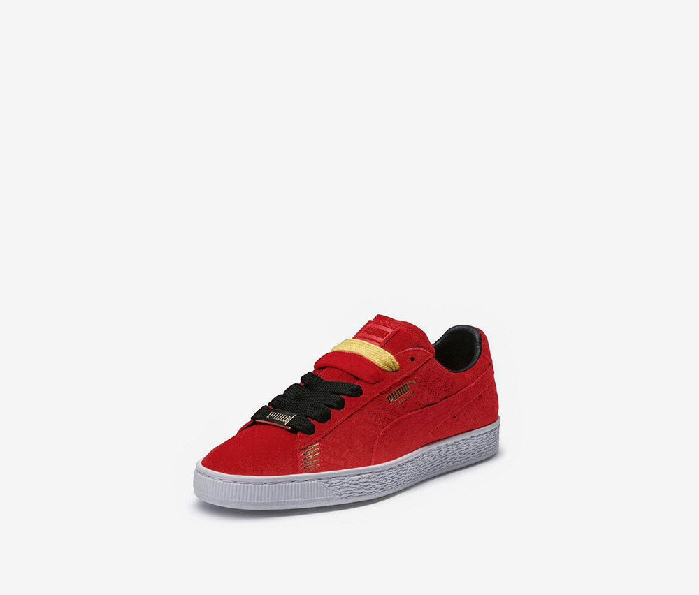 Men's Suede Classic Berlin Shoes, Flame Scarlet