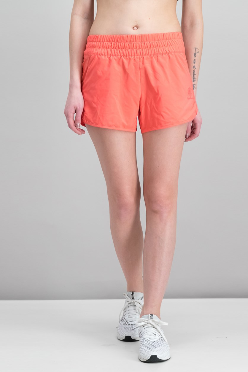 Fitness Running Shorts, Fire Coral