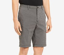 Calvin Klein Men's Seersucker Stripe Shorts, Black
