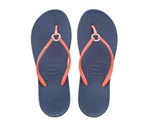 Havaianas Women's  Style 2 Ring Flip Flops,  Indigo/Orange