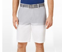 Greg Norman Men's Stretch Shorts, Olive/White