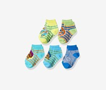 Nickelodeon Boys' Little Bubble Guppies Socks 5 Pack, Blue Combo