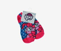 Hasbro My Little Pony Little Girls 1 Pair Anklet Socks, Blue/Pink