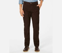 Men's Slim Tapered Fit Alpha  Corduroy Stretch Pants, Mole/Brown