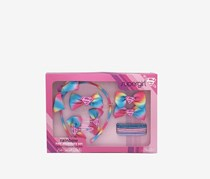 Supergirl Rainbow Hair Accessory Set, Pink