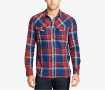William Rast Plaid Button Down Shirt, Red/Blue