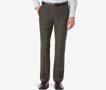 Perry Ellis Corded Twill Striped Flat-Front Pants, Rain Drum