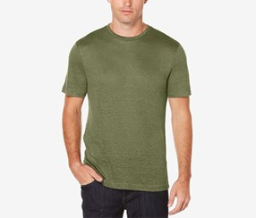 Perry Ellis Men's Big & Tall Linen T-Shirt, Olive