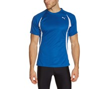 Puma Men's Running Short Sleeve Tee, Blue