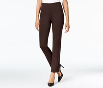 Jm Collection Hollywood Ponte-knit Pull-on Pants, Espresso Roast Brown
