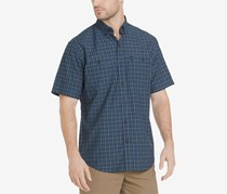 Men's Explorer Fancies Yarn-Dyed Plaid Performance Shirt, Navy Blue