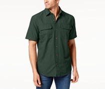 G.h. Bass & Co. Men's Fishing Shirt, Green