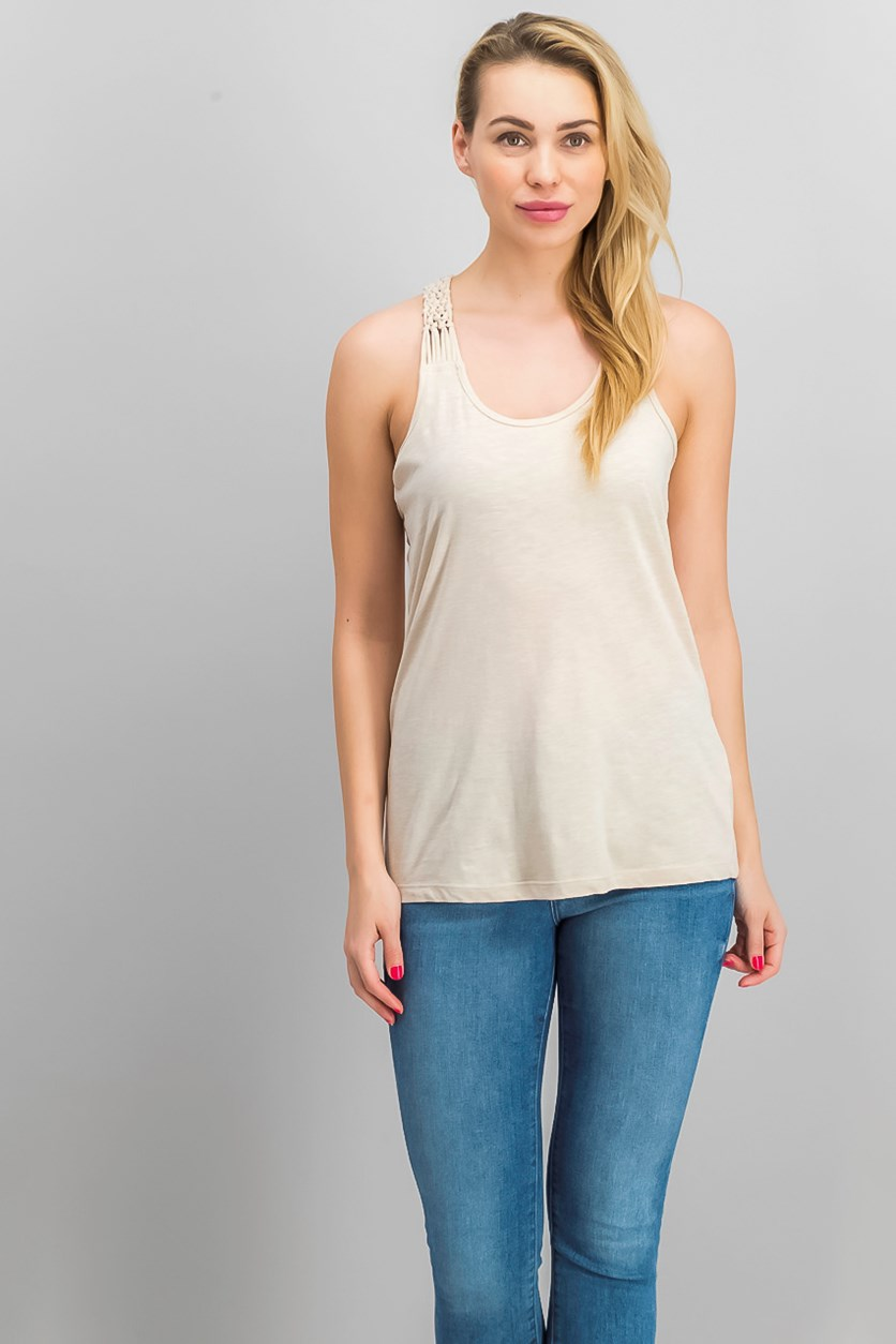 Womens Cotton Top, Beige