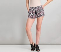 Cropp Women's Floral Short, Black Combo