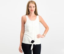 House Women's Textured Knotted Tops, White