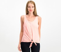 House Women's Textured Knotted Tops, Pink