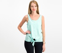House Women's Textured Knotted Tops, Aqua