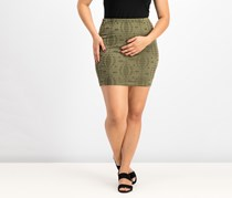 House Women's  Destroyed Lace Skirt, Olive