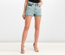 House Women's Wash Jeans Short, Navy/Ivory Combo