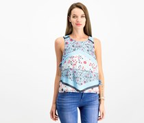 House Women's Floral Tops, Blue Combo