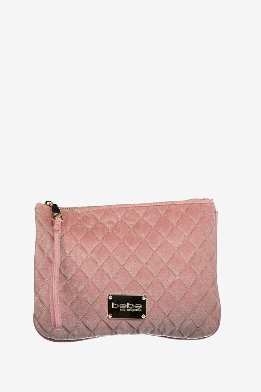 Women Danielle Quilted Wristlet, Blush