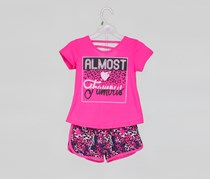 Angel Face Toddler Girls Almost Famous Top & Short Set, Pink