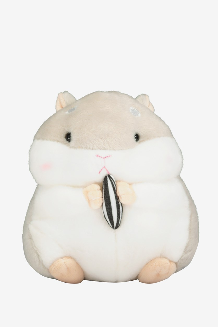Plush Toy Small Hamster, Grey/White