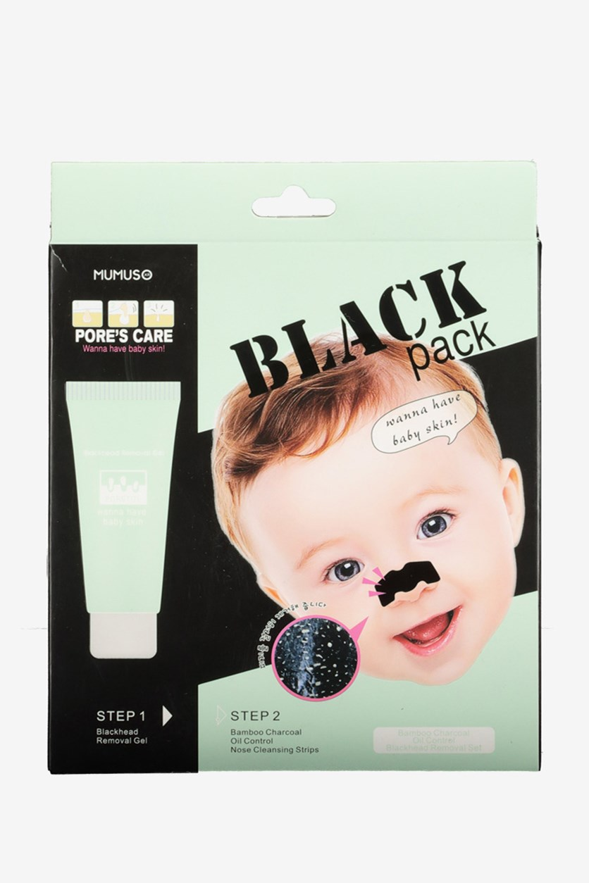 Bamboo Charcoal Blackhead Removal Set, Black