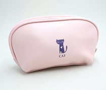 Cute Shell Floral Cosmetic Bag, Pink