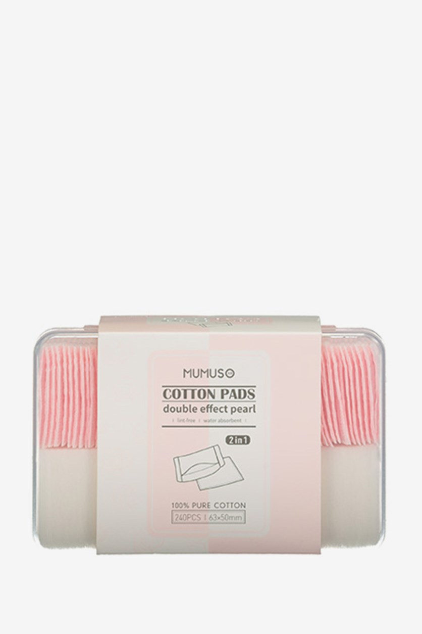 Proffessional Cotton Pads for Makeup Removal, White/Pink