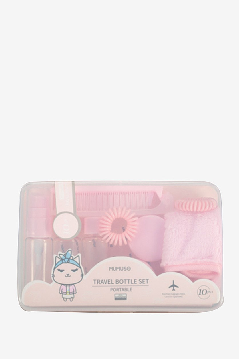 Travel Bottle Set, Pink