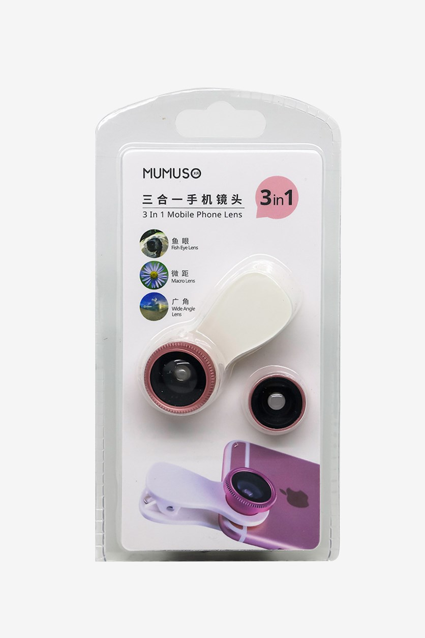 3 In 1 Mobile Phone Lens, Rose Gold