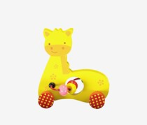 Fawn Bead Maze Toy Car, Yellow