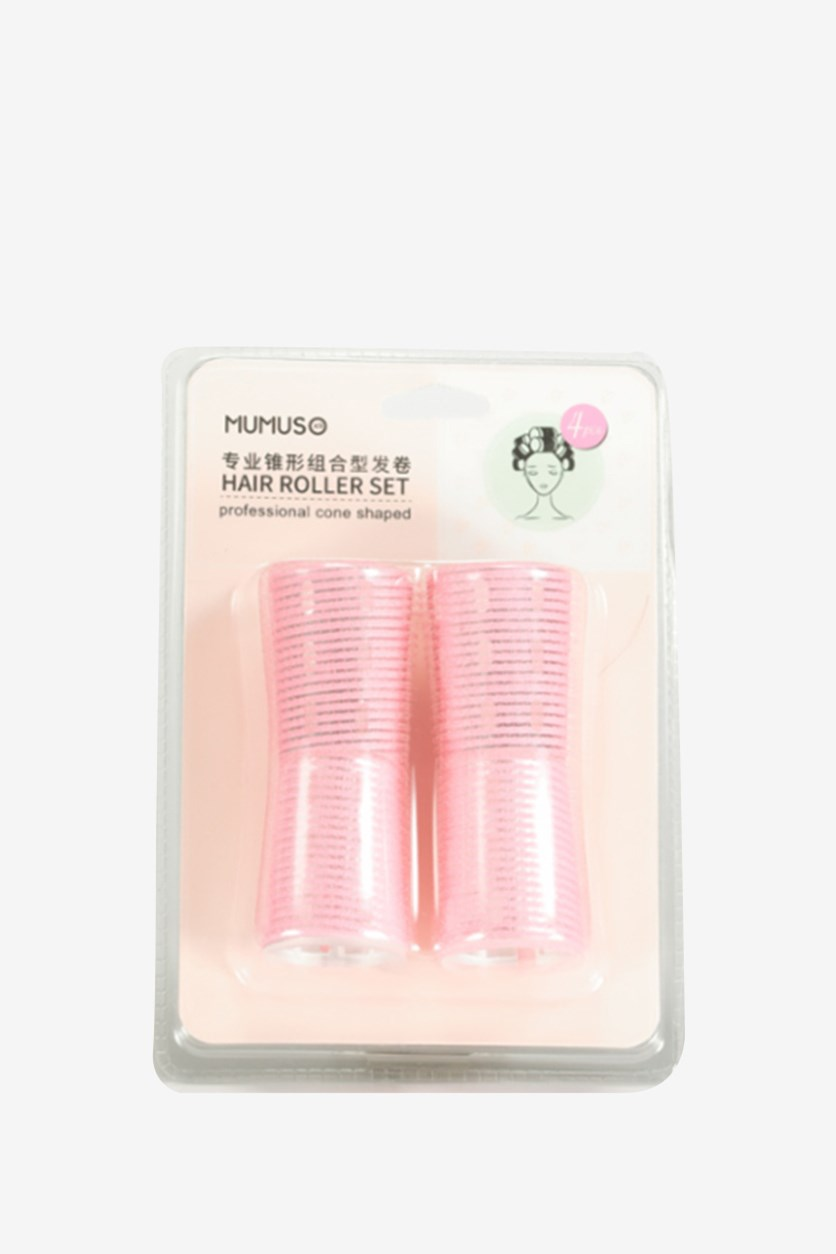 Professional Cone Shaped Hair Roller Set, Pink