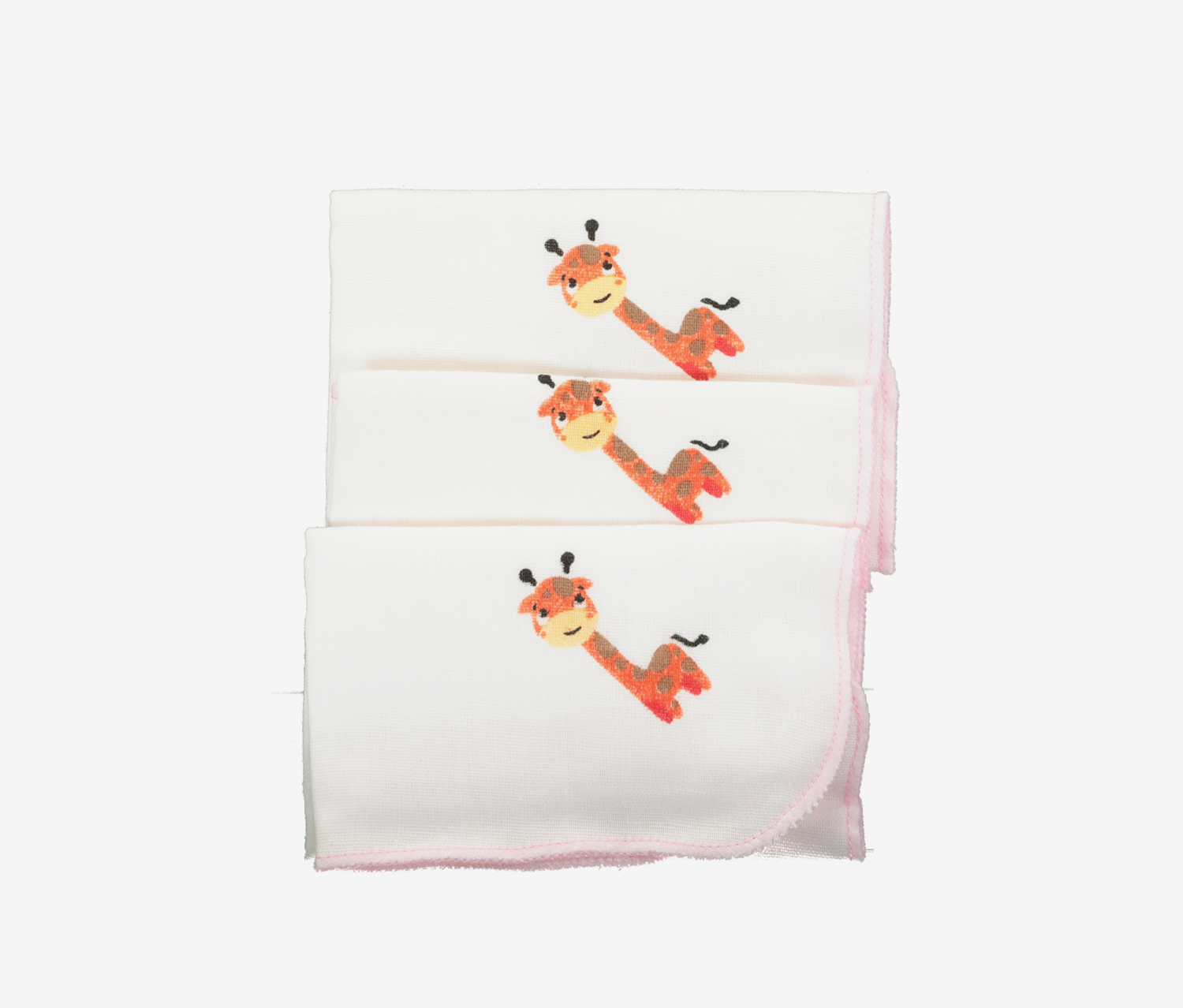 Baby Burp Cloth, White/Pink