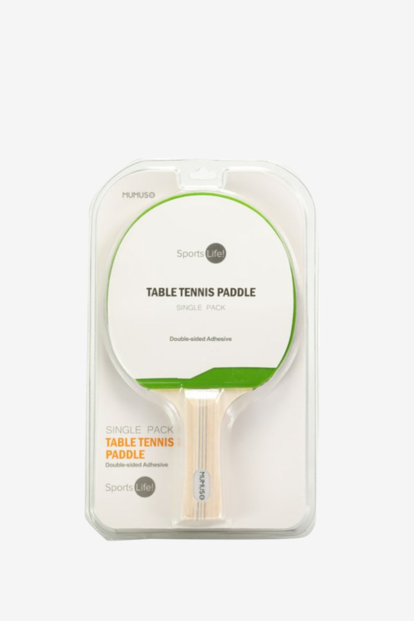 Single Pack Table Tennis Paddle, Green