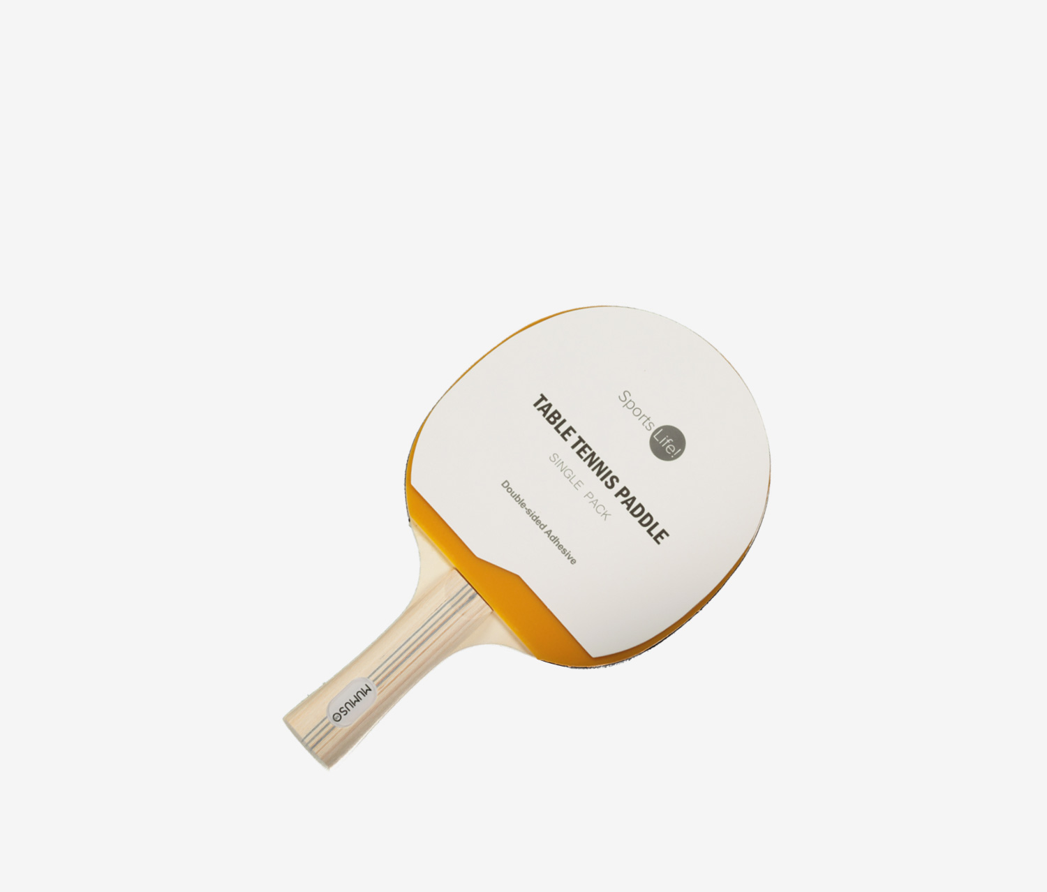 Single Pack Table Tennis Paddle, Caramel