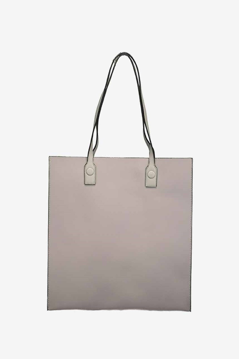 Solid Color Shoulder Bag, Grey