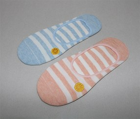 Women's 2 Pairs Of Socks, Blue/White/Pink