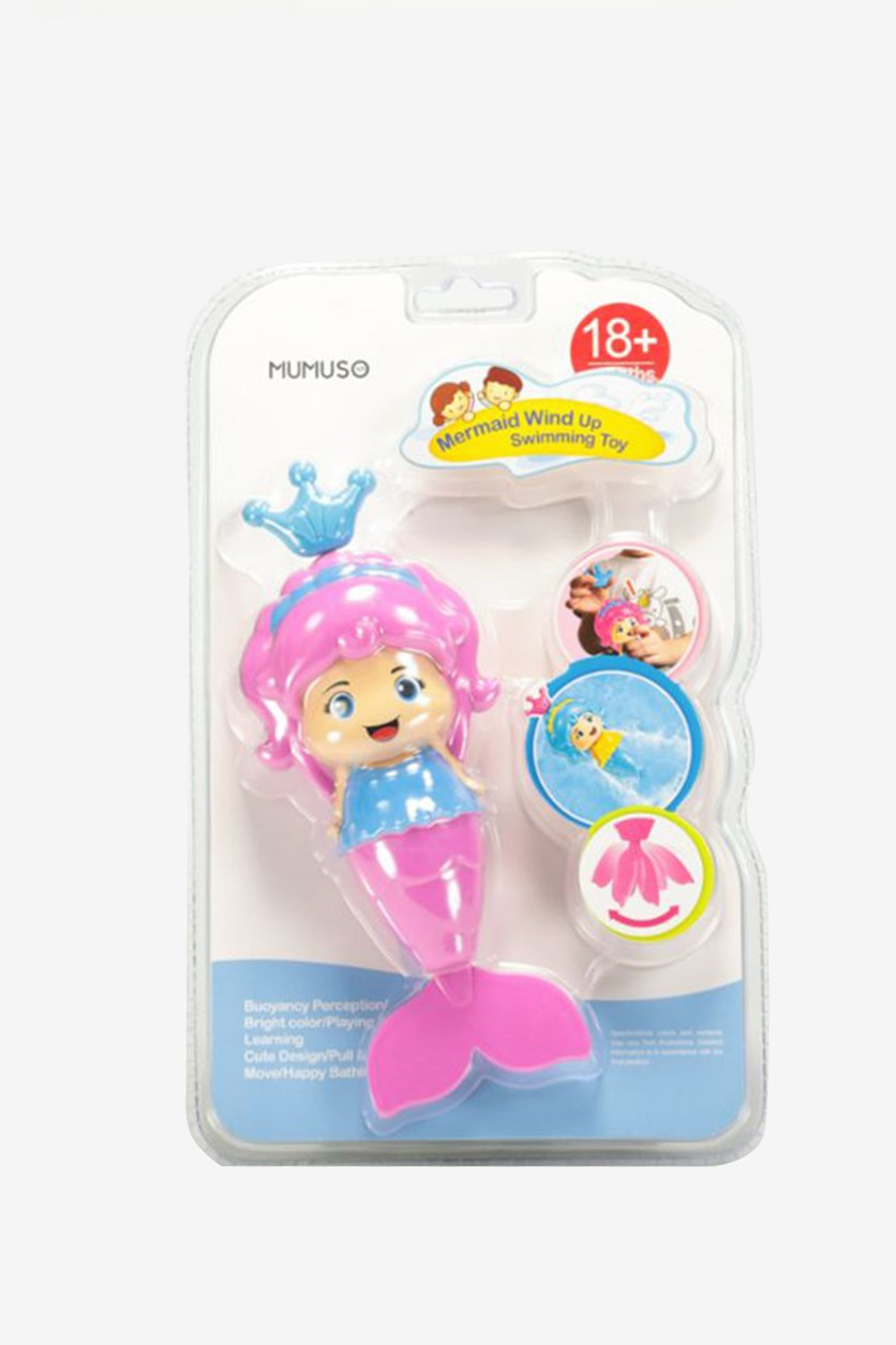 Mermaid Wind Up Swimming Toy, Pink Combo