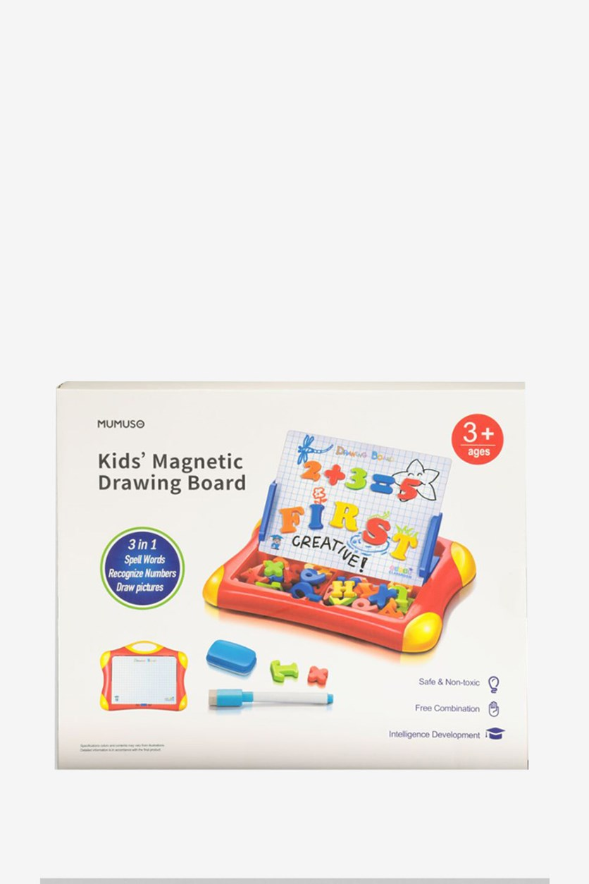 Kids Magnetic Drawing Board, Red Combo