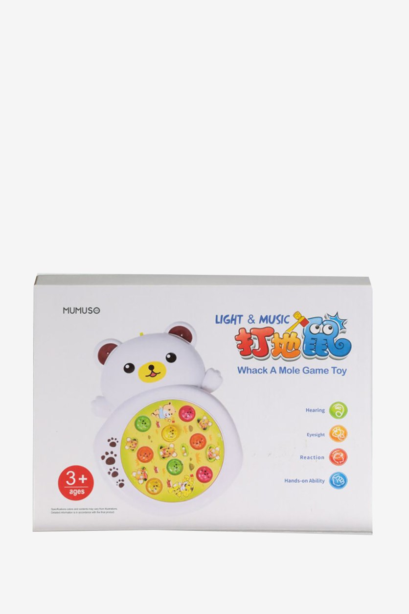 Light & Music Whack A Mole Game Toy, White Combo