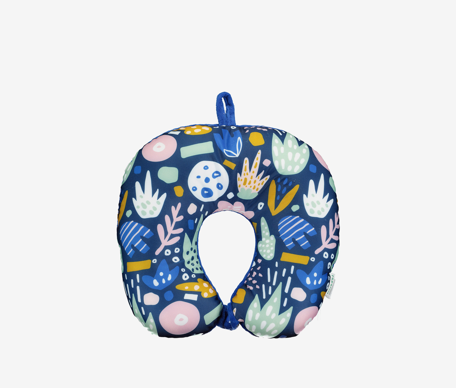 U-Shaped Micro Beads Neck Pillow, Blue Combo