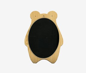 Desktop Mirror-Wood Frame/Hanging/Cute Bear, Brown