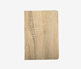 Wood Grain Hardcover Notebook, Tan