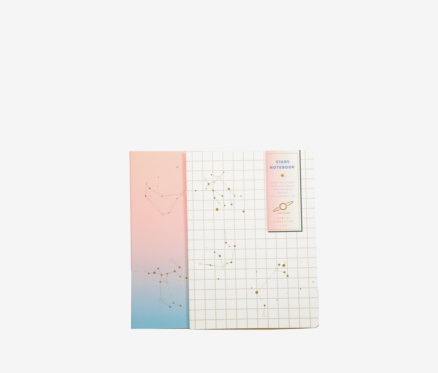 Constellation Notebook, White/Pink