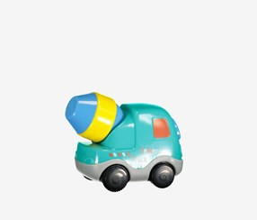 Pull Back Vehicle-Cement Truck, Teal Combo